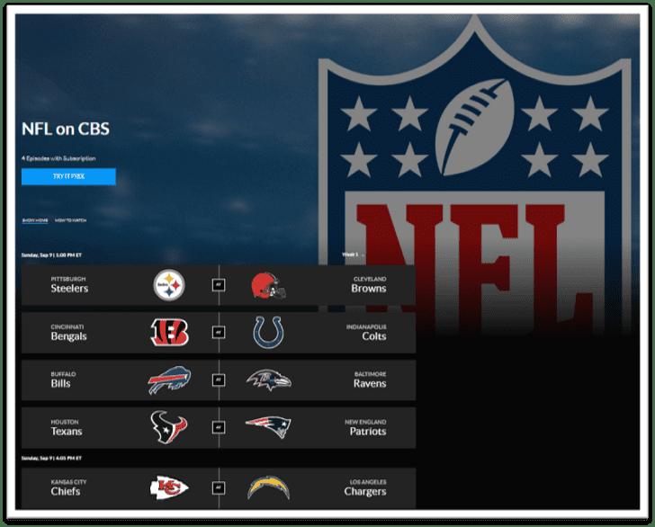 CBS All Access Live NFL