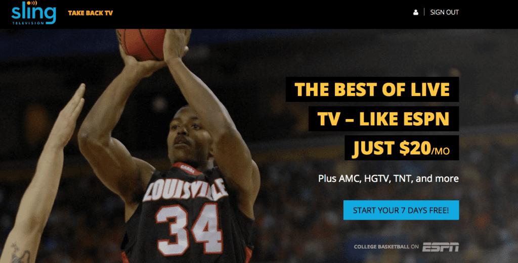 College Basketball Sling TV