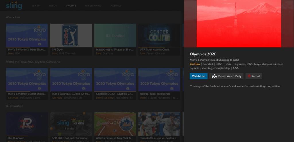 Sling TV Olympic Basketball
