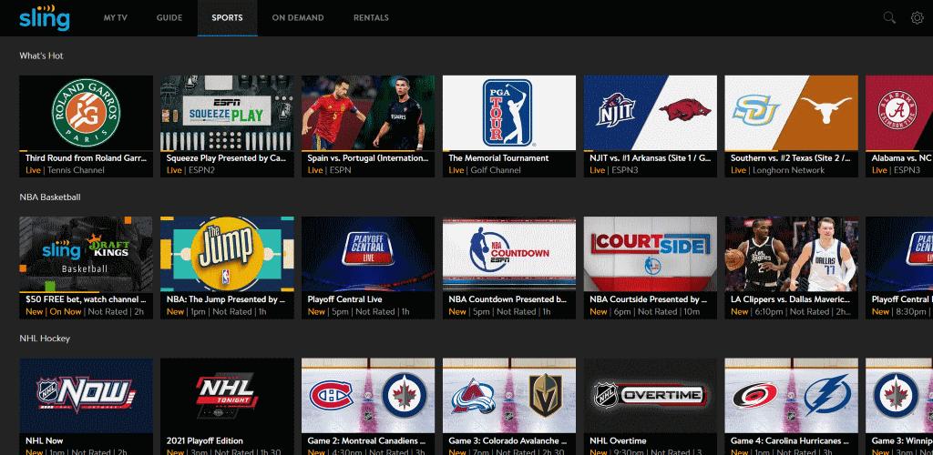 Sling TV Sports